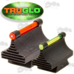 Truglo Metal Dovetail Slot Rifle Red and Green Coloured Fiber Optic Sights
