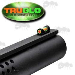 Truglo Fat Bead Shotgun Rib Fitting Dual Colour Red and Green Fiber Sight