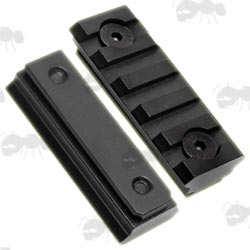 Pair Of Five Slot Picatinny Rails To Fit UIT - Anschutz Rifle Forend Accessory Rails
