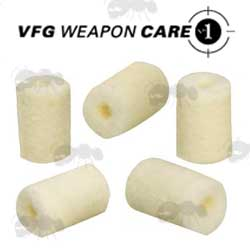 VFG Pre-Drilled Felt Pellets for Pull-Through Cleaning Kits
