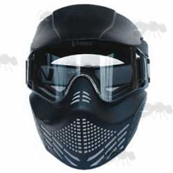 VForce Black Paintball Mask with Clear Goggles