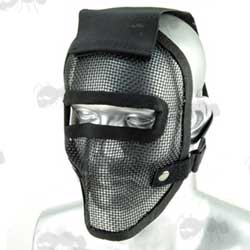 Black Mesh Airsoft Full Face Mask with Gap for Goggles