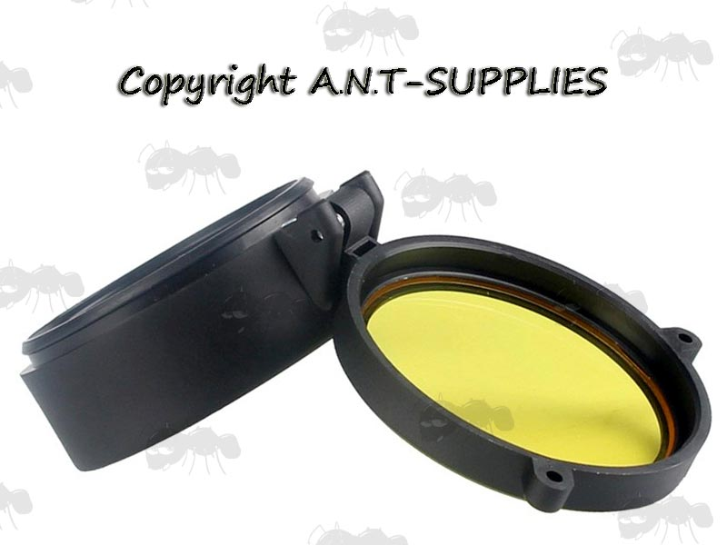 AnTac Yellow See Through Cap Cover for Rifle Scope Lens Protection