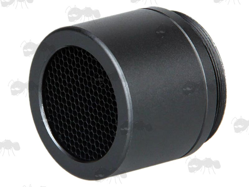 Metal Screw-In Black Airsoft Elcan Scope Sunshade with Killflash