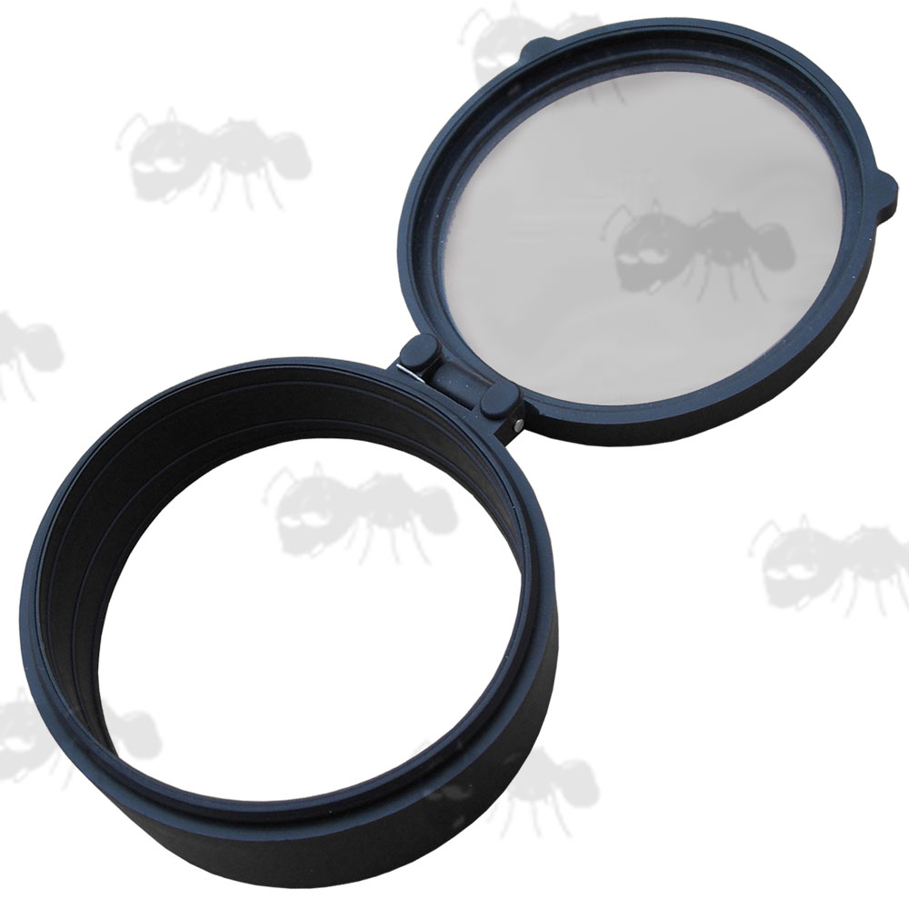 Clear Lens Flip Up Cover for 63mm Diameter Telescopic Rifle Scopes