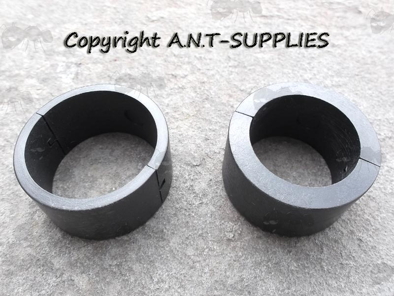 Black Plastic Split Ring 35mm to 30mm and 35mm to 25mm Scope Ring Adapters