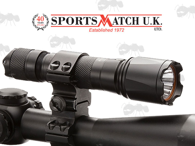 SportsMatch U.K. Torch to Scope Mount TM3 with a 25mm and a 30mm Ring
